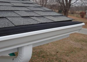 The Double Screen gutter protection system installed in seamless gutters.